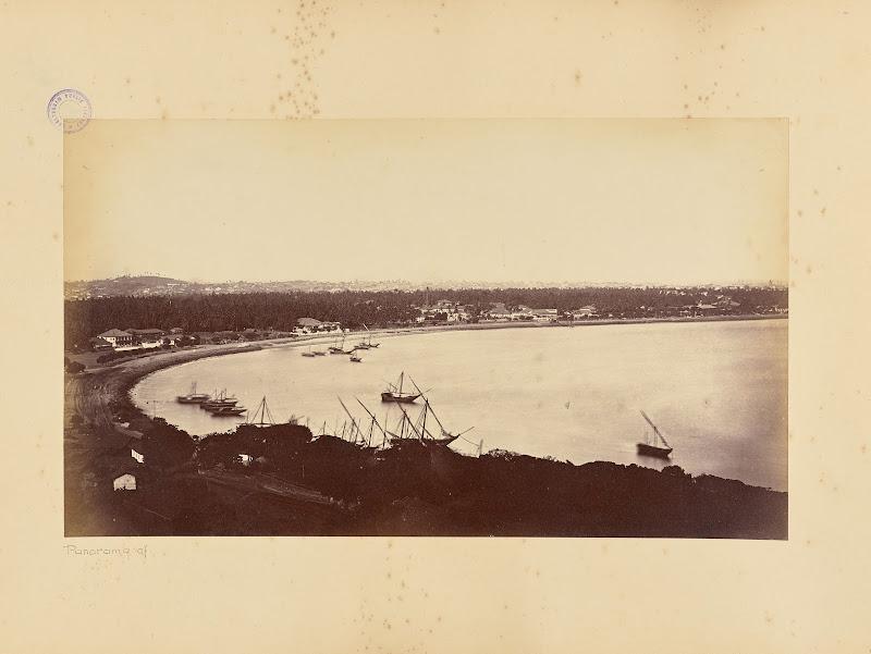 Panorama of Bombay (Mumbai) - Circa 1880