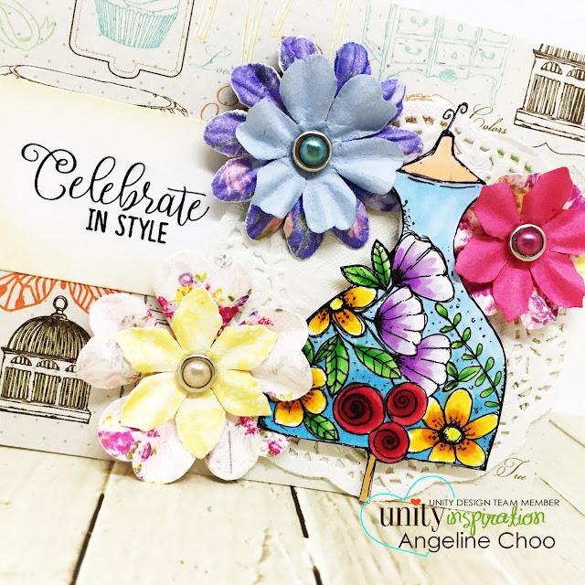 ScrappyScrappy - Unity Stamp's Birthday celebration continues - Best of the Best #scrappyscrappy #unitystampco #primamarketing #vintageflora #paperflowers #copicmarkers #quicktipvideo #youtube #bestofthebest