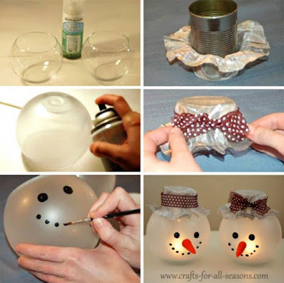 diy snowman style christmas bulbs