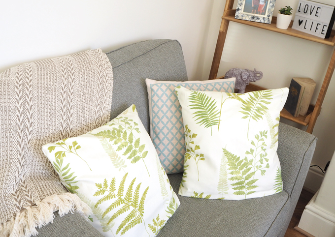 DIY Interiors How to make a botanical cushion lifestyle shot 2