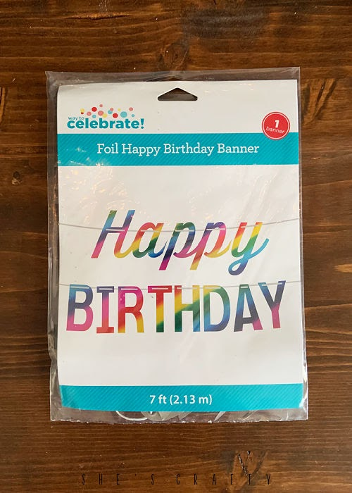 Birthday in a box - birthday banner to include in the birthday gift
