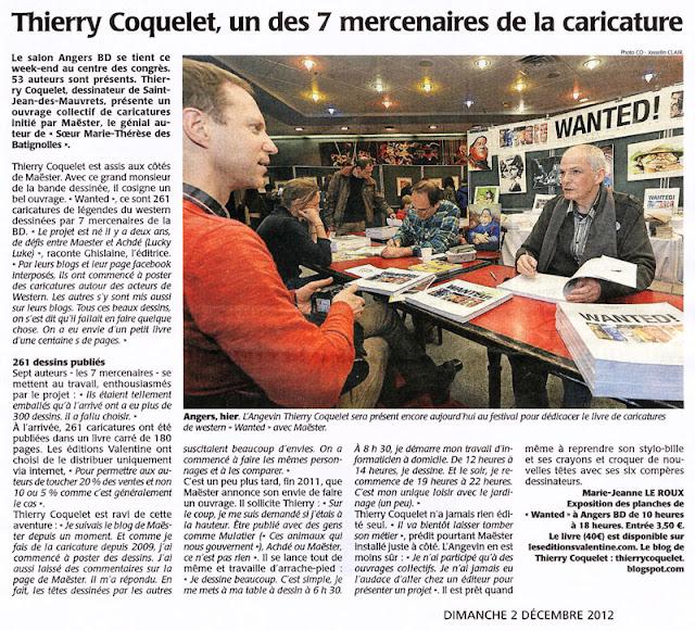 Le Courrier de l'Ouest (02.12.2012)