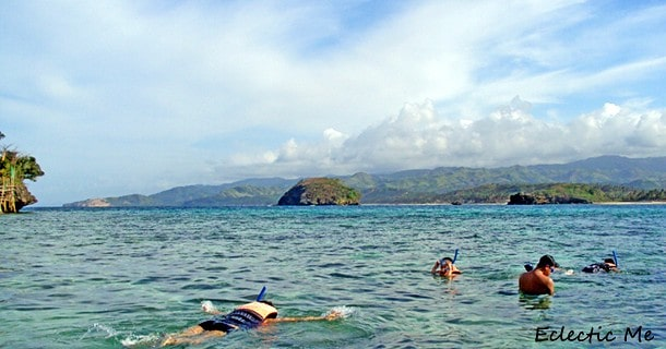 snorkeling in Crystal Cove or Tiguatian Island Boracay