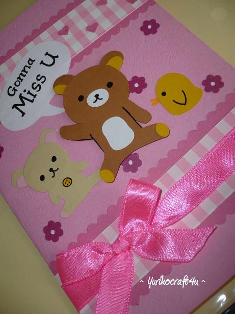 handmade greeting cardsyuriko sweet farewell card