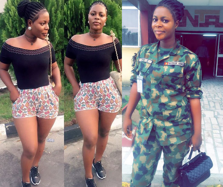 See more photos of viral beautiful Nigerian Army female soldier