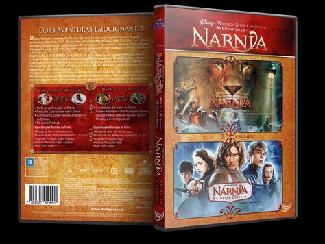 Capa DVD As Crônicas de Nárnia O Leão A Feiticeira e o Guarda Roupa & As Crônicas de Nárnia Príncipe Caspian