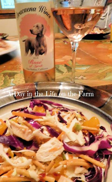 Chicken and Mandarin Orange Salad with Wine