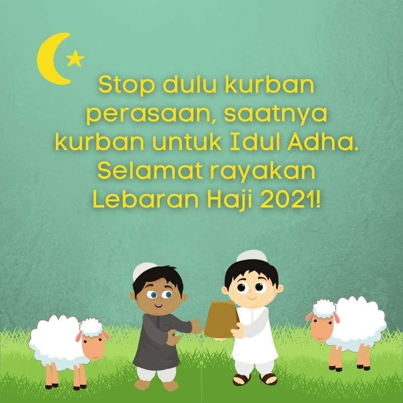 Stiker Ucapan Selamat Hari Raya Idul Adha 1442 H
