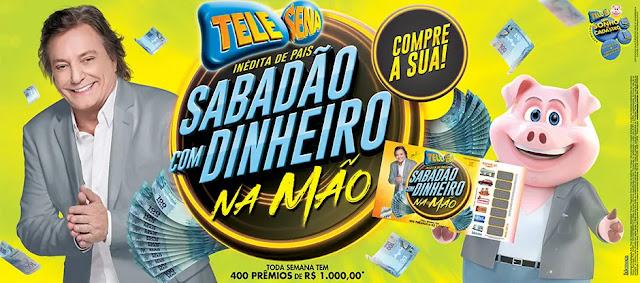 Premiação da Tele Sena Sabadão com Dinheiro na Mão