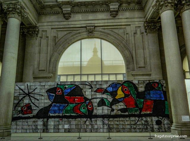 Painel de Joan Miró no Museu Nacional de Arte da Catalunha, Barcelona