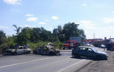 "Fighting in Mukachevo between the ""Right Sector"" and the security forces"