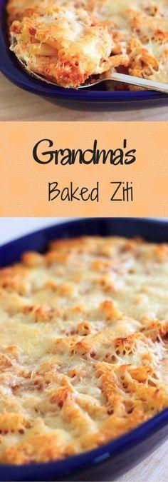 Grandma�s Meatless Baked Ziti Recipe