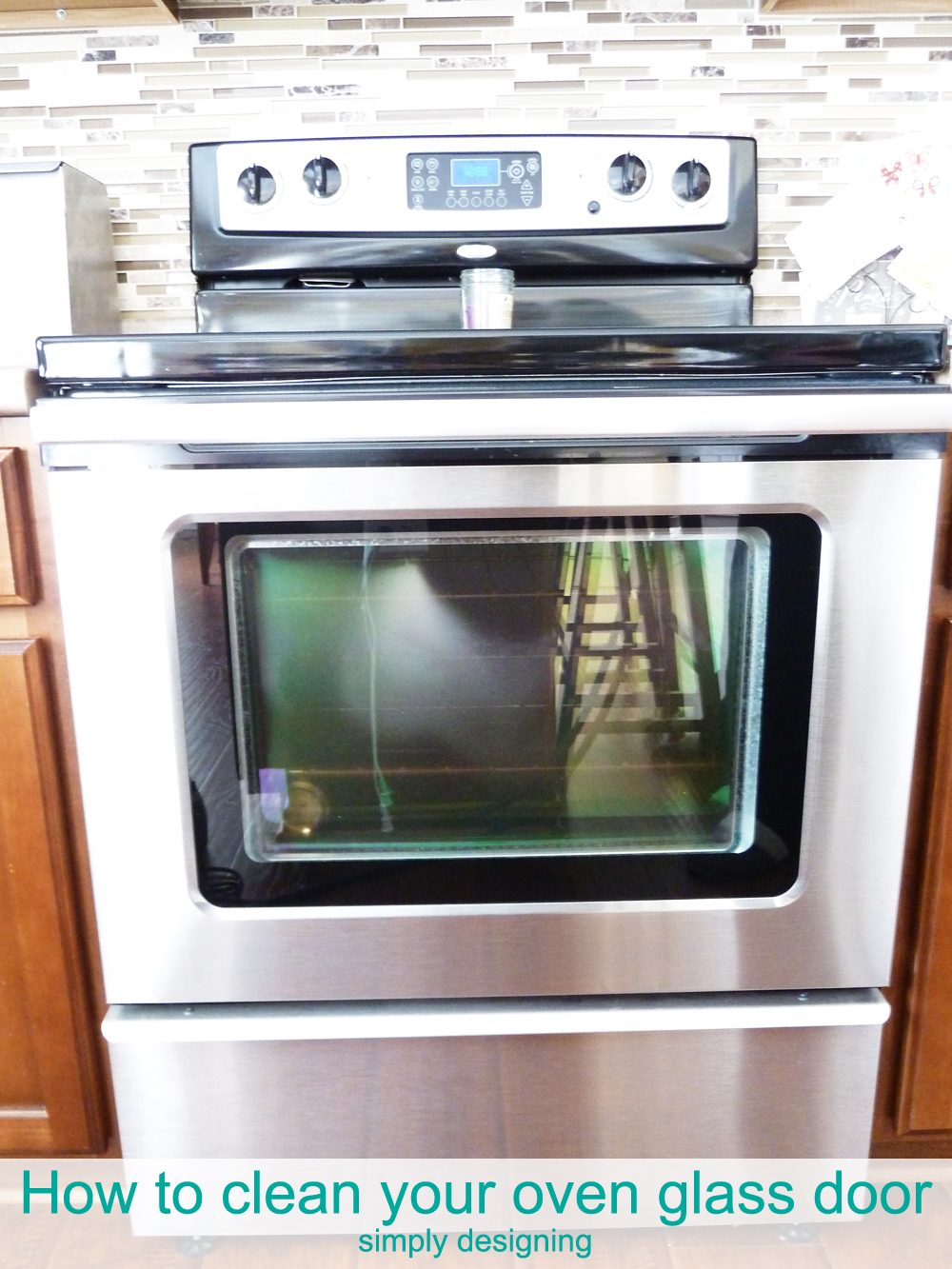 How to clean your Oven Glass Door | simple way to clean dirt and grime off of your glass oven door with a steammachine | #cleaning #kitchencleaning