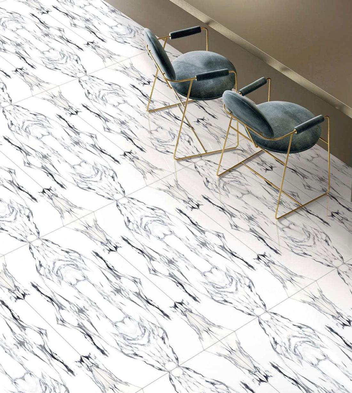 white porcelain tile