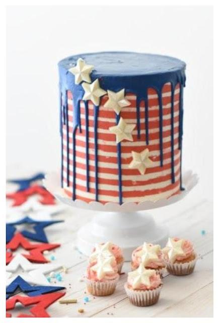 patriotic and summer fondant art cake designs