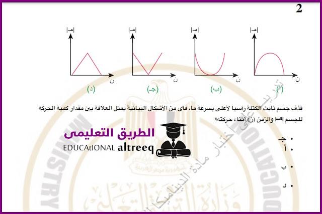 امتحان يونيو التجريبي في الديناميكا بالإجابات للصف الثالث الثانوي