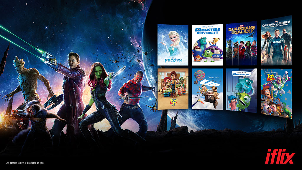 Disney content from pixar marvel movies now available on iflix iflix users will be able to access many of disneys biggest films featured in app and at iflix in their own branded channels including stopboris Choice Image