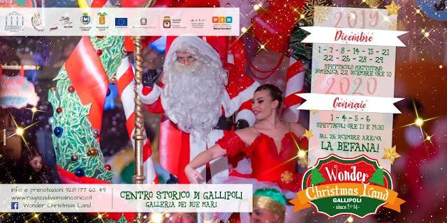 """""""Wonder Christmas Land"""", a Gallipoli il Natale è nel villaggio ai piedi del Castello Angioino"""