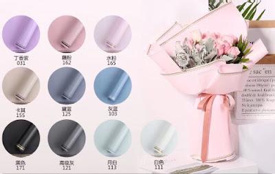 Kertas Buket Bunga / Flower Bouquet Wrapping Paper (Seri BLZ BO)