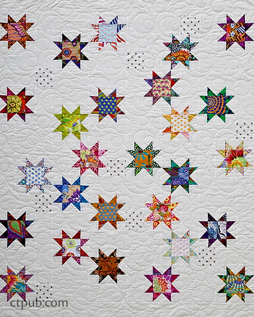 Seeing Stars Quilt Free Pattern Designed and pieced by Alex Anderson of C&T Publishing