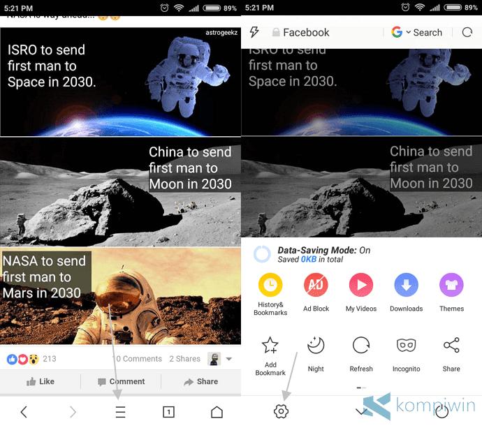 menghapus notifikasi berita