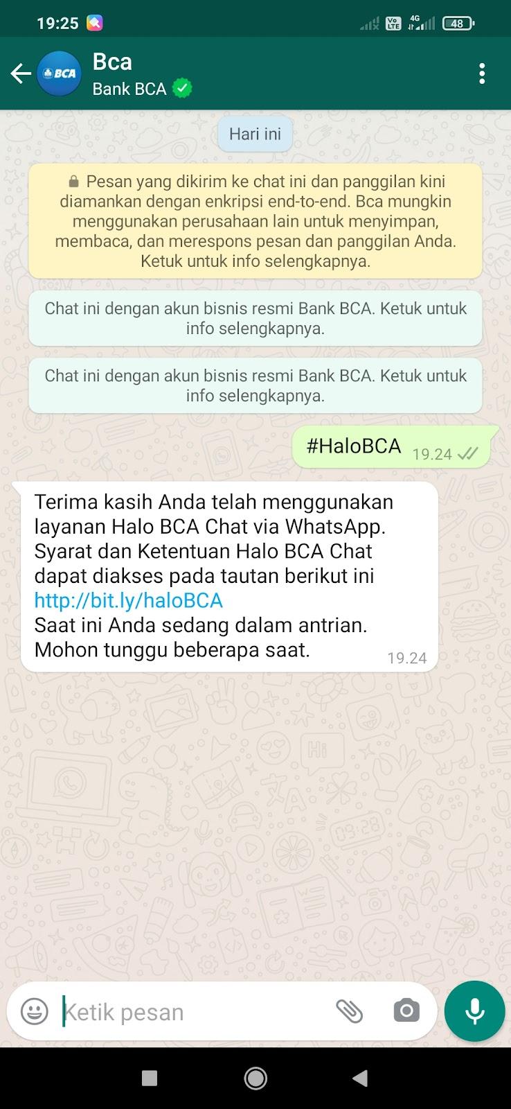 Cara Buka Blokir ATM BCA Lewat Whatsapp