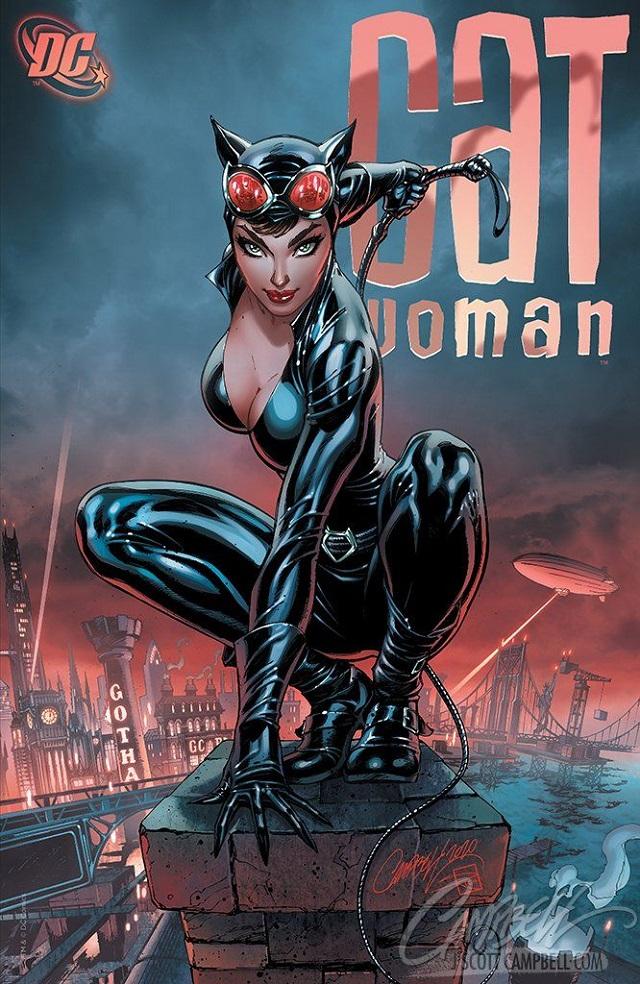 Catwoman gafas aviador según J. Scott Campbell