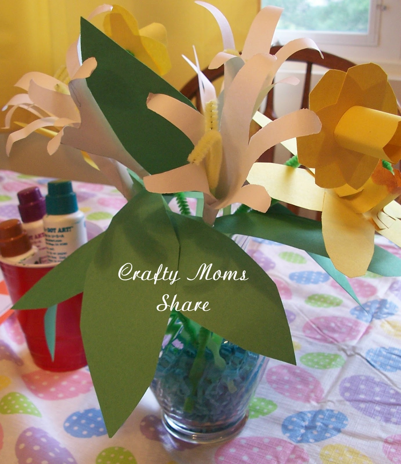 Crafty Moms Share Paper Flowers And Pumpkin Blueberry Pancakes