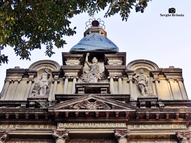 Vista da Fachada superior do Circulo Esotérico da Comunhão do Pensamento - Liberdade - São Paulo