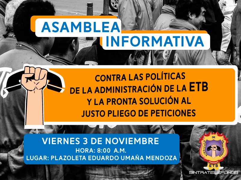 Asamblea Informativa en contra de las calumnias de Jorge Castellanos y los medios de comunicación