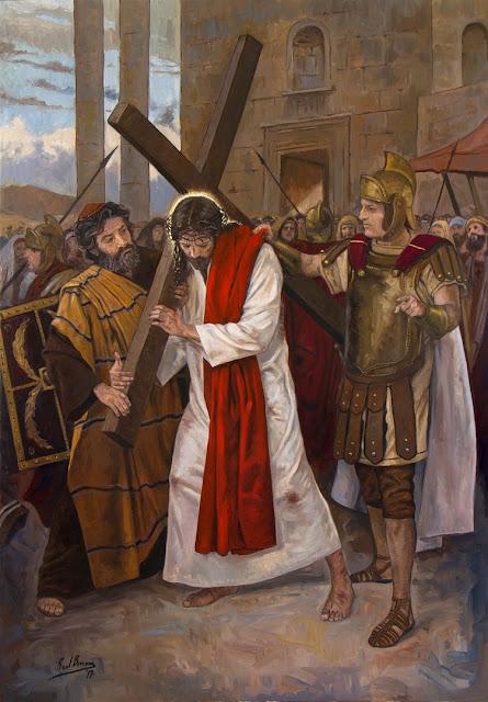 V Estação da Via-Sacra - Jesus é ajudado por Simão de Cirene