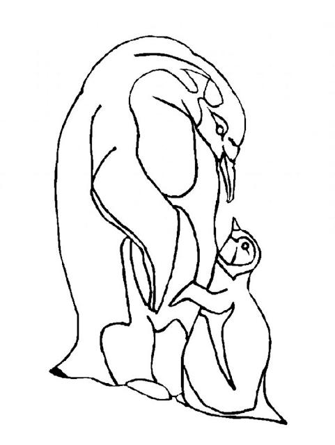 Gambar Mewarnai Pinguin - 3