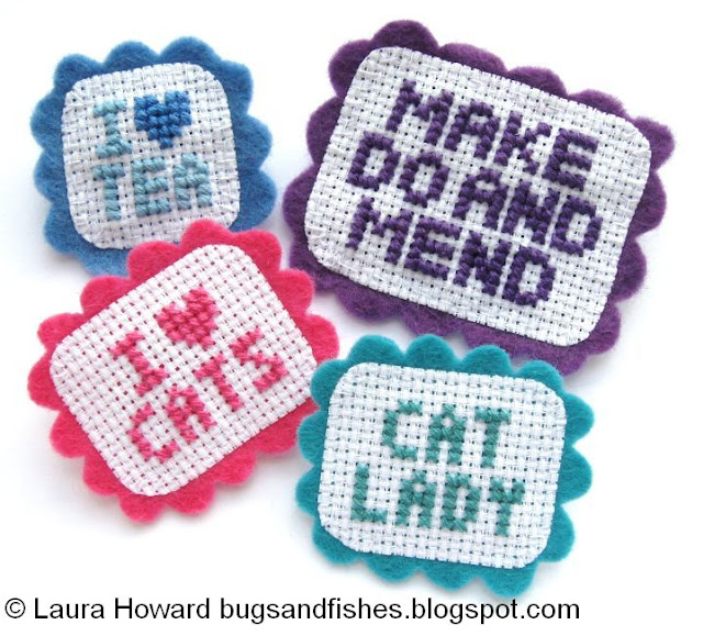 http://bugsandfishes.blogspot.com/2014/06/how-to-cross-stitch-sampler-brooches.html