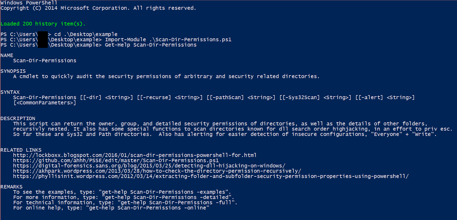 Scan Dir Permissions - PowerShell for Pentesters (PSSE