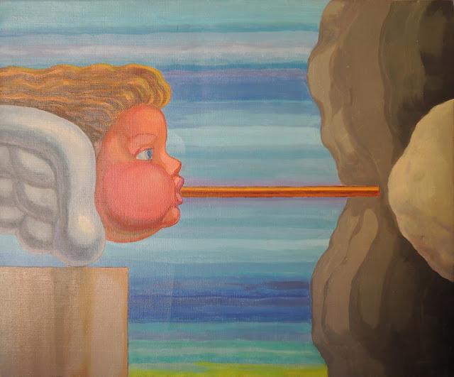 José Canes Solé pintura naíf surrealista angel