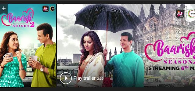 Play Baarish (2019) Hindi Indian Web Series Trailer online for free