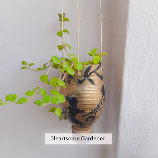 Tangled heart Hanging plant,DIY Planter