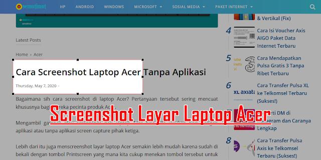 cara screenshot laptop acer tanpa aplikasi
