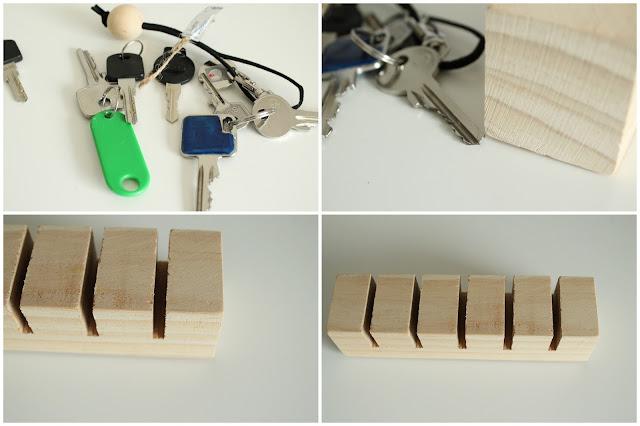 DIY Schluesselbrett Holz Holzkugeln Schluesselanhaenger Jules kleines Freudenhaus Anleitung