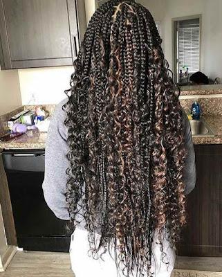 Beautiful messy goddess box braids hairstyles