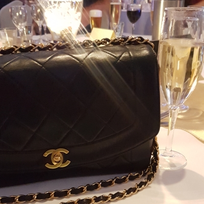 Chanel vintage quilted 'Diana' lambskin flap for a wedding | awayfromtheblue