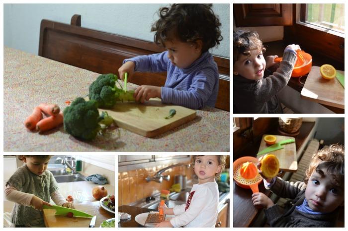 niña cocinando, beneficios de participar de las acciones cotidianas
