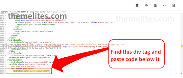 Search place to paste code