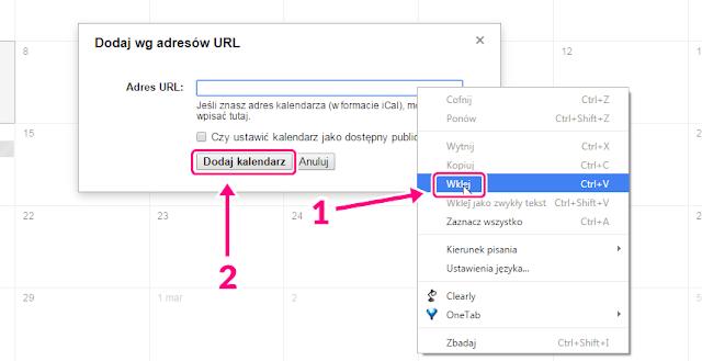Jak dodać inny kalendarz w Google Calendar 2