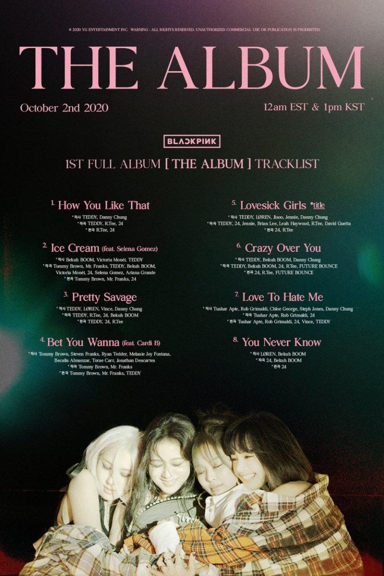 BLACKPINK Announces 'THE ALBUM' Track List, There's Cardi B to David Guetta