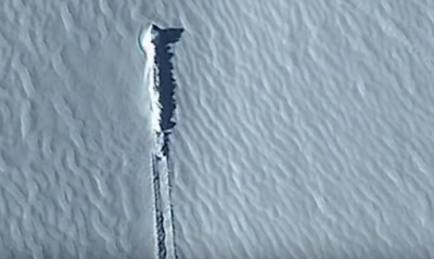 UFO crashed in Antarctica.