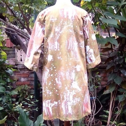 Blus Batik Gepyok Hijau Lumut