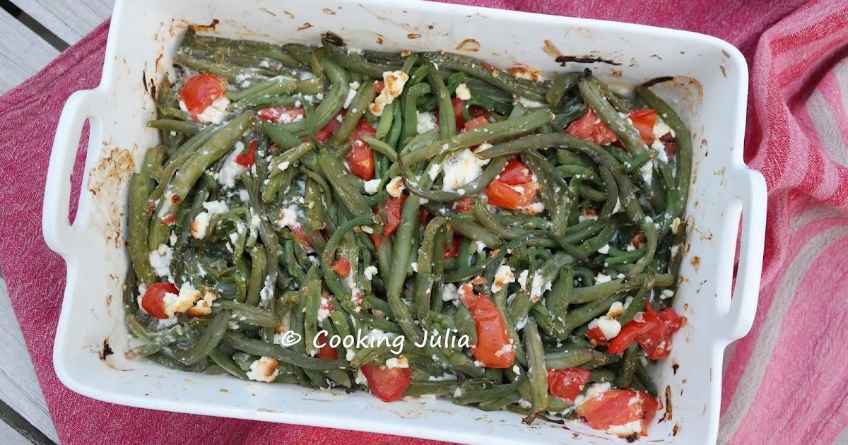Cooking julia haricots verts la grecque - Comment congeler les haricots verts du jardin ...