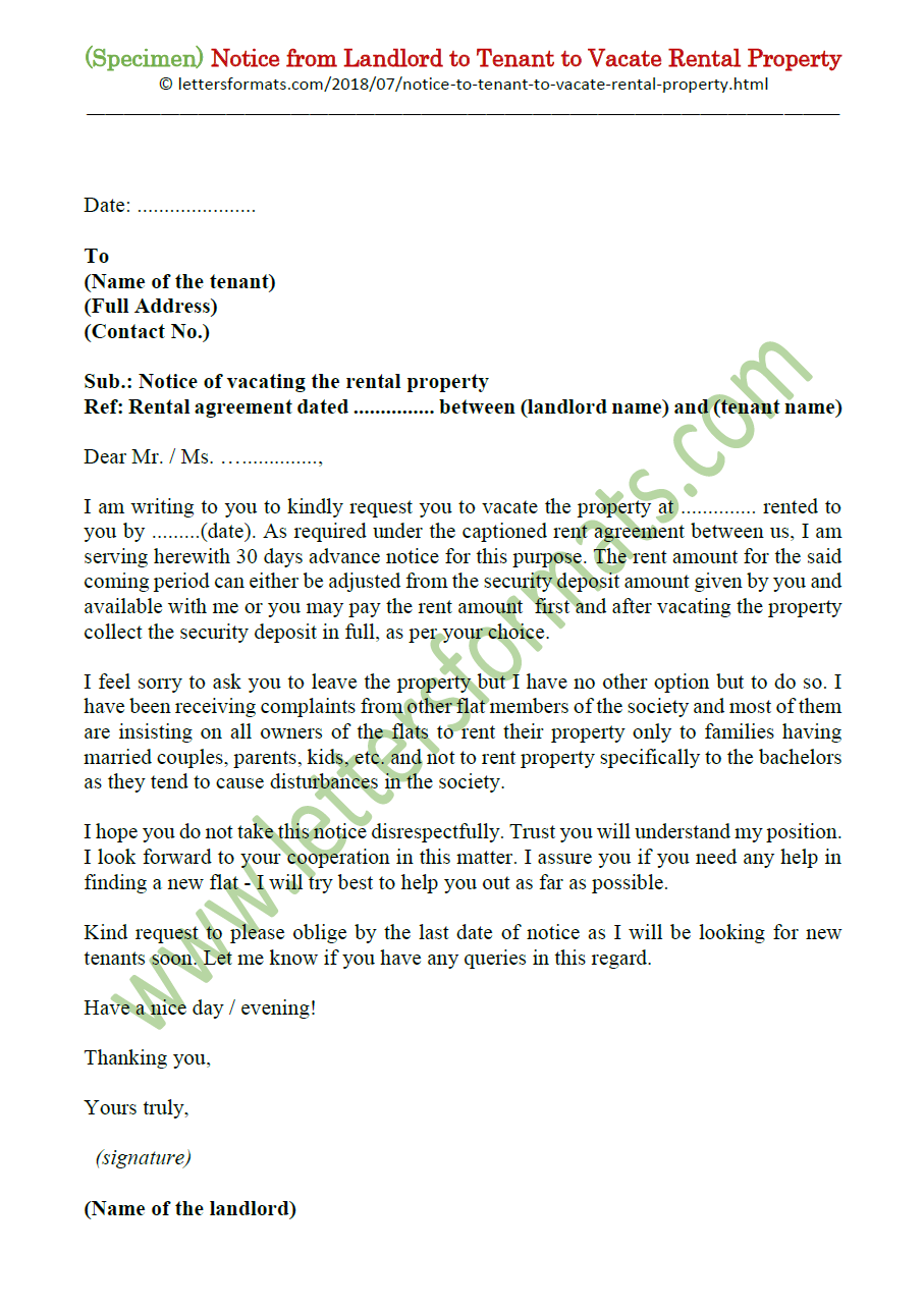 Sample Letter To Landlord Intent To Vacate from 1.bp.blogspot.com