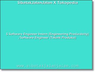 software engineer intern engineering productivity software engineer teknik produksi